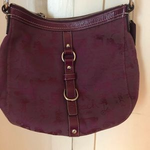 Burgundy Wine Coach Saddle Bag